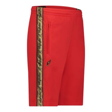 Australian bermuda with two zippers and a gold stripe 2.0   red