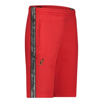 Australian bermuda with two zippers and a silver stripe 2.0   red