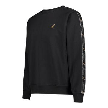 Australian sweater with black stripe on the sleeves 2.0   black