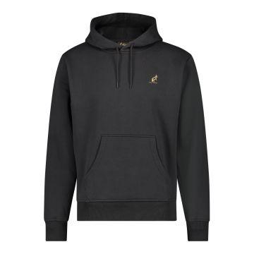 Australian hooded sweater with vertical black stripe 2.0 on the back   black