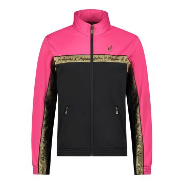 Australian duo jacket gold chest stripe 2.0 | black - pink