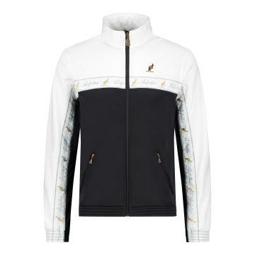 Australian duo jacket white chest stripe 2.0 | black - white