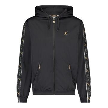 Australian vest with hood and black stripe on the sleeves | black