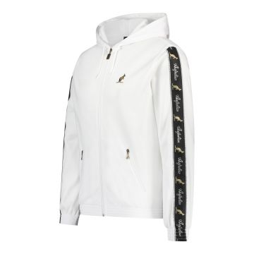 Australian jack with hood and black stripe on the sleeves 2.0 | white