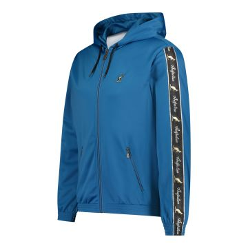 Australian jack with hood and black stripe on the sleeves 2.0 | teal blue