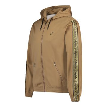 Australian jack with hood and gold stripe on the sleeves | bronze