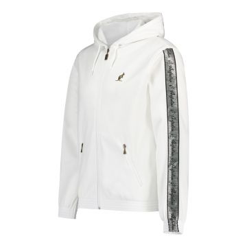 Australian jack with hood and silver stripe on the sleeves 2.0 | white