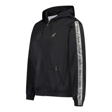 Australian jack with hood and silver stripe on the sleeves 2.0 | black
