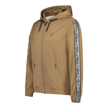 Australian jack with hood and silver stripe on the sleeves 2.0 | bronze