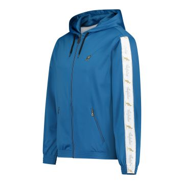 Australian jack with hood and white stripe on the sleeves 2.0 | teal blue