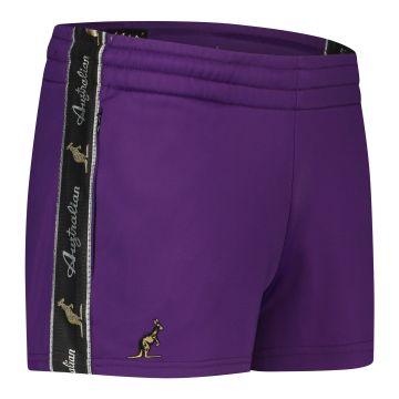 Australian ladies hot pants with black stripe 2.0   purple