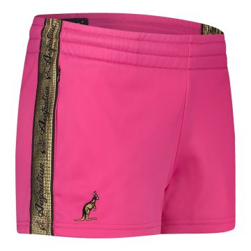 Australian ladies hot pants with gold stripe 2.0   pink