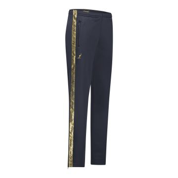 Australian pants with gold stripe and two zippers 2.0   navy blue