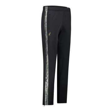 Australian pants with silver stripe and 2 zippers 2.0   black