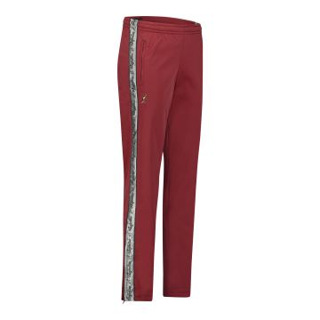 Australian pants with silver stripe and 2 zippers 2.0   bordeaux red