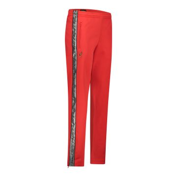 Australian pants with silver stripe and 2 zippers 2.0   red