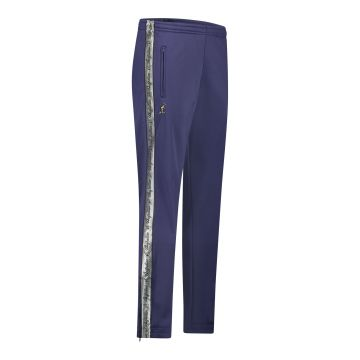 Australian pants with silver stripe and 2 zippers 2.0   cosmo blue