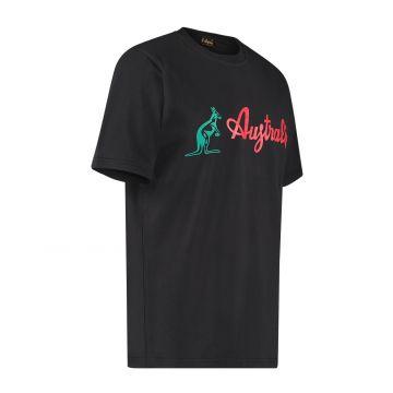 Australian T-shirt with classic logo | black