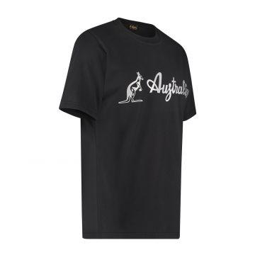 Australian T-shirt with silver logo | black
