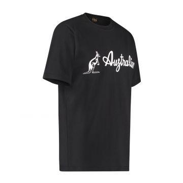 Australian T-shirt with white logo | black