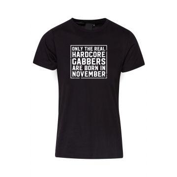 Hard-Wear T-shirt O.R.H.G.A Born In November   black