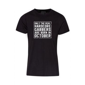 Hard-Wear T-shirt O.R.H.G.A Born In October   black