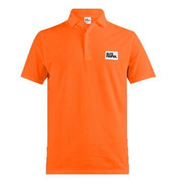 Elitepauper polo with patch | orange