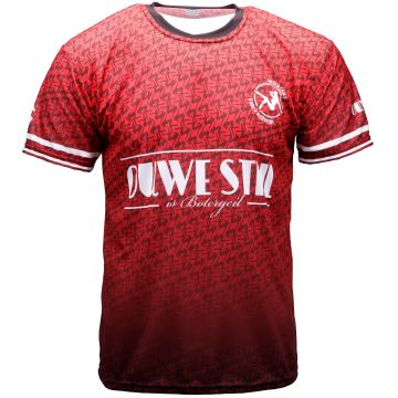 Ouwe stijl is botergeil soccer T-shirt | red 004