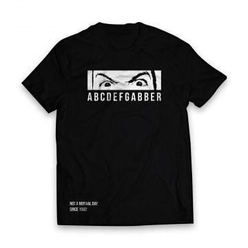 Peckerhead T-shirt ABCDEFGABBER   Zwart