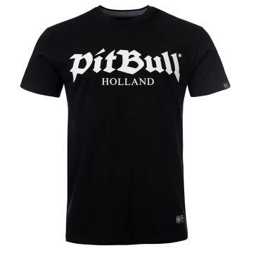 Pit Bull Holland T-shirt old logo   black