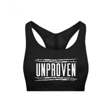 Unproven ladies sporttop logo   black
