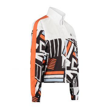 Australian sportswear ladies track jacket bottom print above white