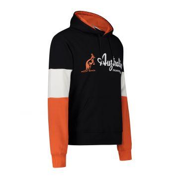 Australian Sportswear hooded sweater tri-color block