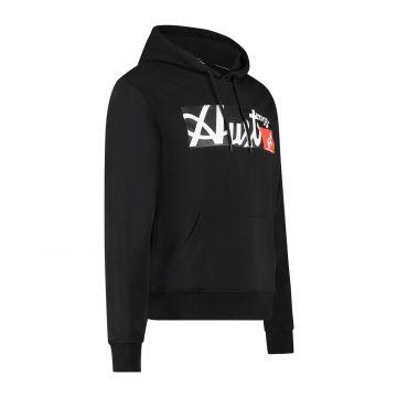 Australian Sportswear hooded sweater met rechthoek logo print op de voorkant   zwart