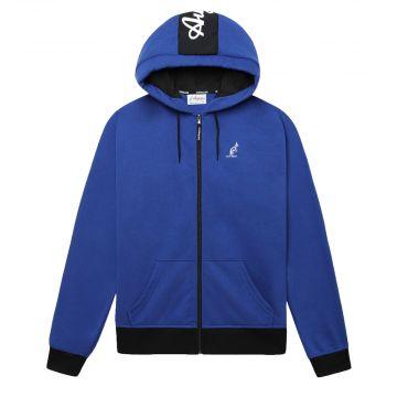 Australian sportswear zip hoodie fleece logo | blue