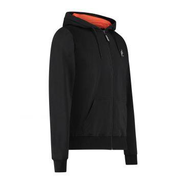 Australian sportswear zip hoodie abstract print from hood to back | black
