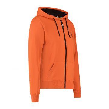 Australian sportswear zip hoodie abstract print from hood to back | lava