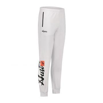 Australian sportswear track pants with rectangular logo print   white