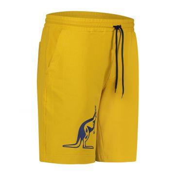 Australian sportswear bermuda with big blue kangaroo | mustard yellow