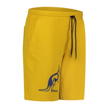 Australian Sportswear bermuda met grote blauwe kangoeroe | mosterdgeel