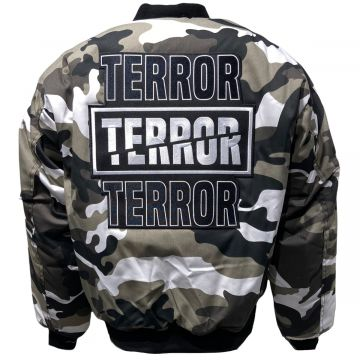 Terror Bomberjack camouflage geborduurd.