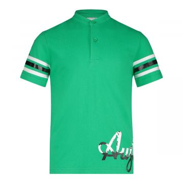 Australian kids polo heup logo   groen