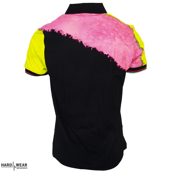 Australian polo goran print zwart roze