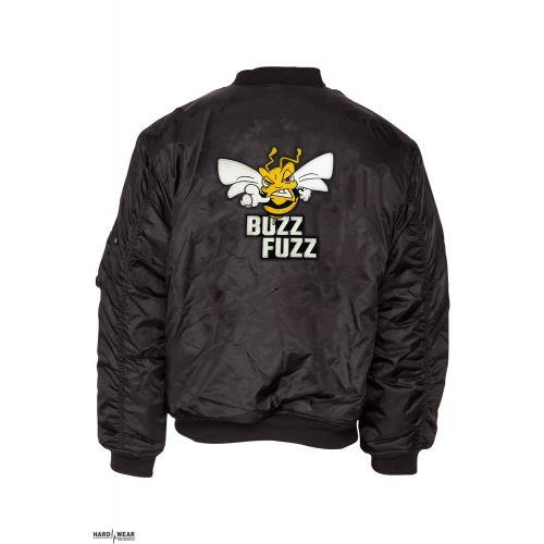 Buzz Fuzz (EXCLUSIVE) bomberjack embroidered logo   black