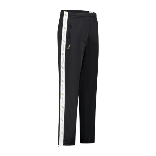 Australian pants with white stripe and 2 zippers 2.0   black