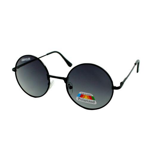 Loud and Clear ronde zonnebril gepolariseerd   zwart glas